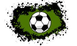 Wet Paint Splatter Soccer Design vector illustration