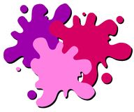 Wet Paint Splatter Web Logo. A simple 3-color wet paint or paintball splatter web page logo in purple and pink colors isolated on white