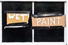 Wet paint Royalty Free Stock Photography