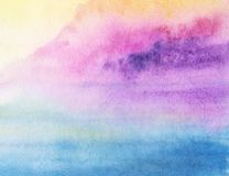 Wet painted watercolor gradient. Watercolor painted hand made abstract gradient background vector illustration