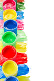 Wet paints. Row of colorful wet paints isolated on white background royalty free stock photography