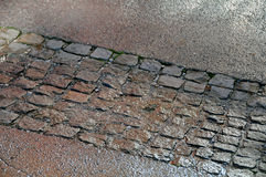 Wet pavement Royalty Free Stock Photography