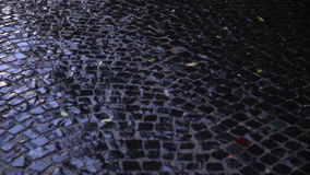 Wet pavement close up. stock video footage