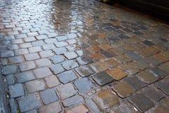 Wet pavement pattern Royalty Free Stock Image