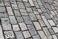 Wet paver blocks Stock Image