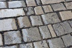 Wet paver blocks Royalty Free Stock Photo