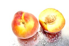 Wet peaches II royalty free stock images