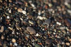 Wet pebble texture close up Royalty Free Stock Photos