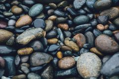 Wet pebbles Royalty Free Stock Photography