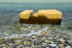 Wet Pebbles on beach. Colourful pebbles on the beach Stock Photos