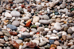 Wet pebbles texture. Stone background. Stock Photography