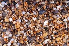 Wet pebbles top view. Stock Photos
