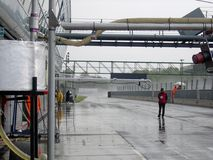 Wet pitlane Stock Images