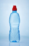 Wet plastic bottle of water Stock Photography