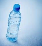 Wet plastic bottle of water Stock Photos