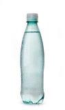 Wet plastic bottle of water Stock Image