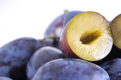 Wet plums Stock Photos