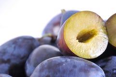 Wet plums Stock Photos