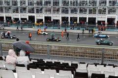 Wet race start. Royalty Free Stock Photos