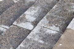 Wet stone stairs Royalty Free Stock Photo