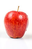 Wet red apple isolated on white Stock Photo