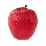 Wet red apple Stock Photos