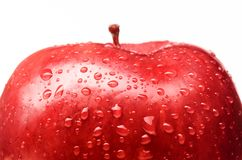 Wet red delicious apple Stock Images