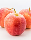 Wet red delicious apple close up Royalty Free Stock Photo