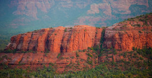 Wet Red Rocks of Sedona. The beautiful Red Rocks of Sedona Shining because of the fresh rain upon them Stock Image