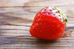 Wet ripe strawberry Royalty Free Stock Image