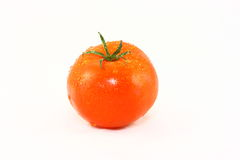 Wet Ripe Tomato Isolated On White Royalty Free Stock Photo