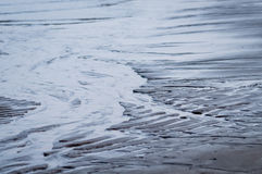 Wet rippled sand and water at the beach abstract background Royalty Free Stock Photography