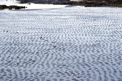 Wet ripples of sand Royalty Free Stock Image