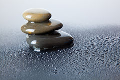 Wet river stones Royalty Free Stock Photography
