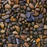 Wet river stones background Stock Image