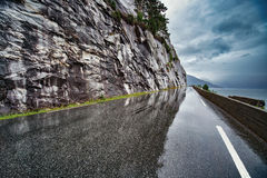 Wet road Stock Photography