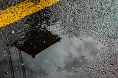 A wet road royalty free stock image
