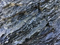Wet rock, stone formations stock image