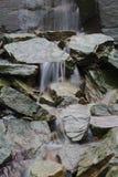Wet rocks on the moors. River stream water stones rocks cascading Royalty Free Stock Photos