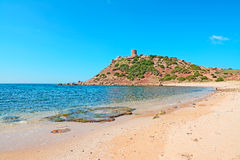 Wet rocks and sand. Wet rocks in Porticciolo shore, Sardinia Stock Image