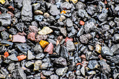 Wet rocks. After a summer rain Royalty Free Stock Photo