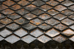 Wet roof tiles pattern Stock Images