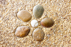 Wet round stone rock texture Stock Photo