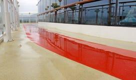 Wet Running Track-Danger Stock Images