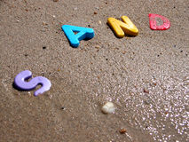 Wet sand 2 Stock Photo