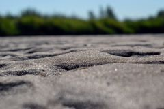 Wet Sand in the Sunshine. Vistula River Royalty Free Stock Images