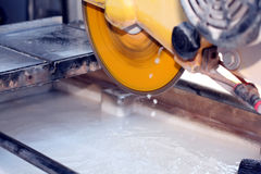 Wet saw cutter Stock Image