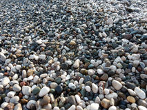 Wet sea pebbles background Stock Photography