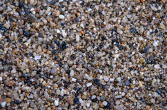 Wet sea pebbles. Closeup of small stones on the beach Royalty Free Stock Photography