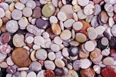 Wet sea stones background Stock Photo